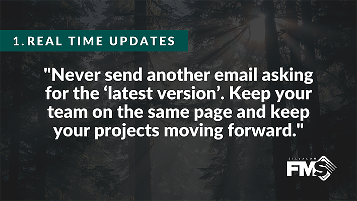 With our cloud-based forest management system, never send another email asking for the 'latest version'. Keep your team on the same page and keep your projects moving forward with the best forestry software!