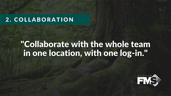 Silvacom FMS makes collaboration easy as it connects all your forest management data and integrates with third-party applications, allowing you to manage all your forestry data from beginning to end