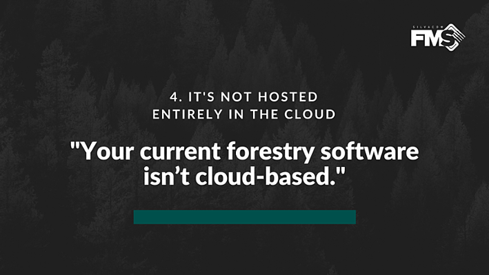 If you're not already using one there are 100% cloud-based forestry software options available, that help you ensure your data is secure and accessible and available on-demand from anywhere in the world via an internet connection.